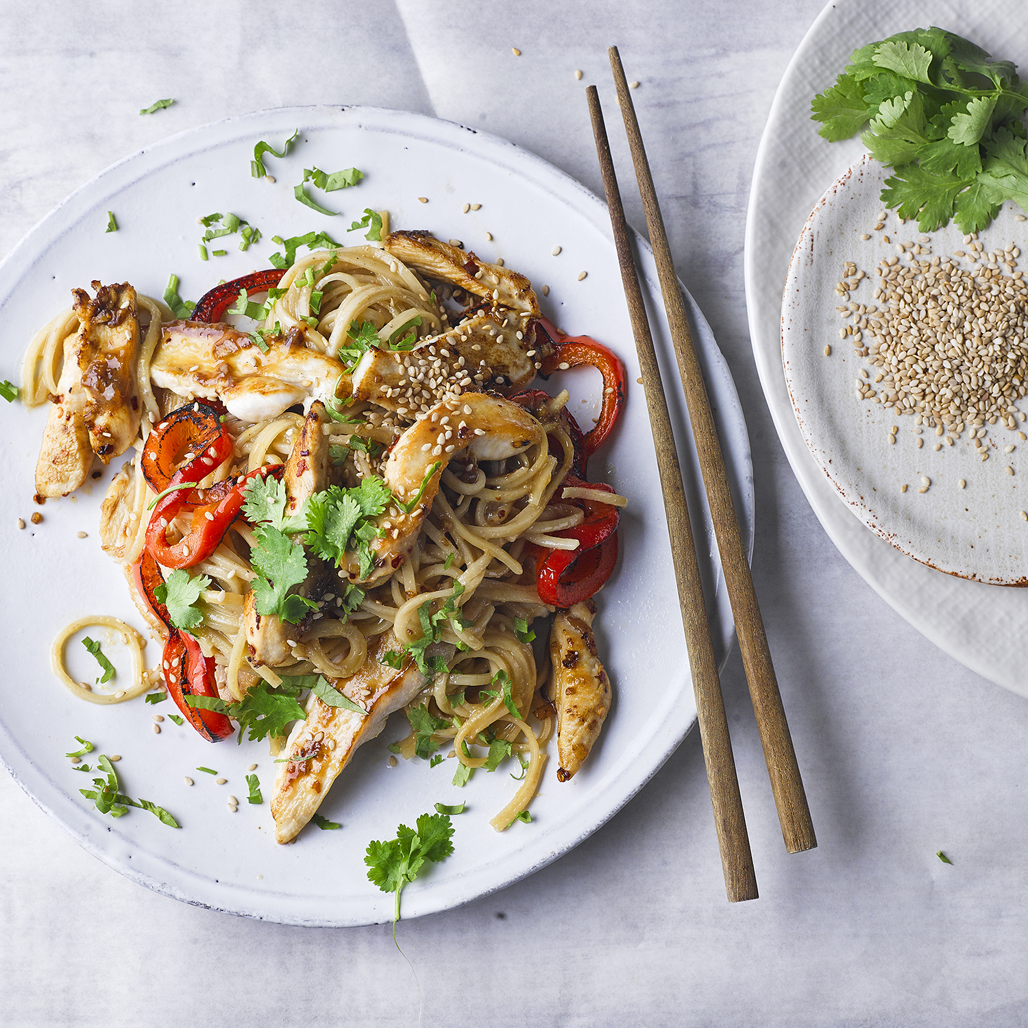 Miso Sesame Chicken Noodles Recipe