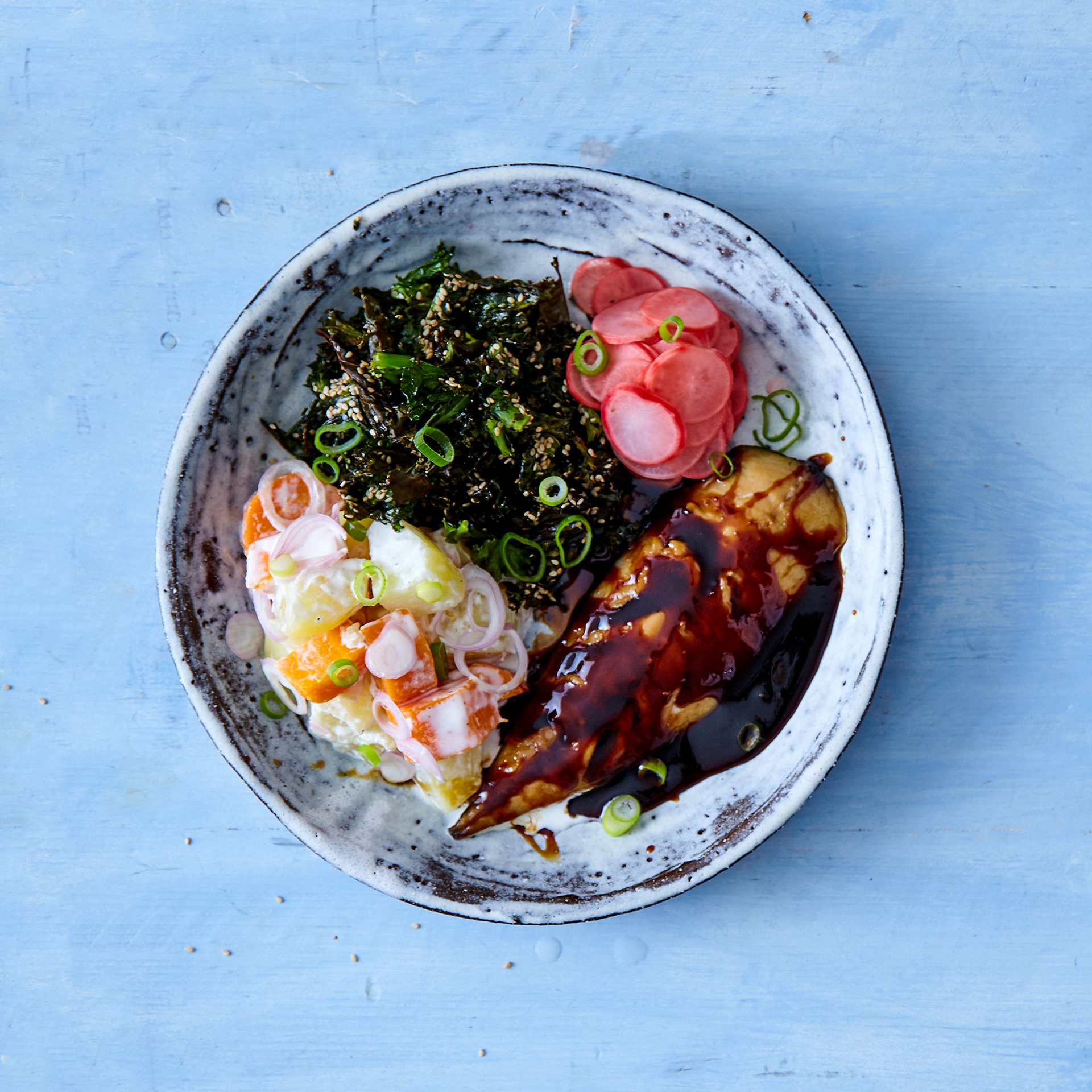 Teriyaki Smoked Mackerel Bento Bowl Recipe Gousto