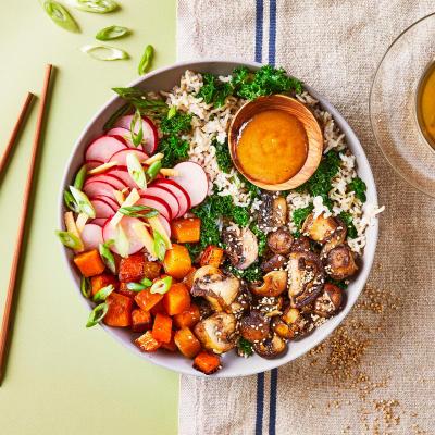 Food boxes get fresh food ingredients delivered gousto miso mushroom butternut donburi bowl v new recipe forumfinder Images