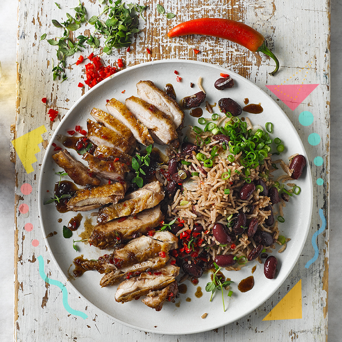 Street party jerk chicken rice peas recipe gousto forumfinder Image collections
