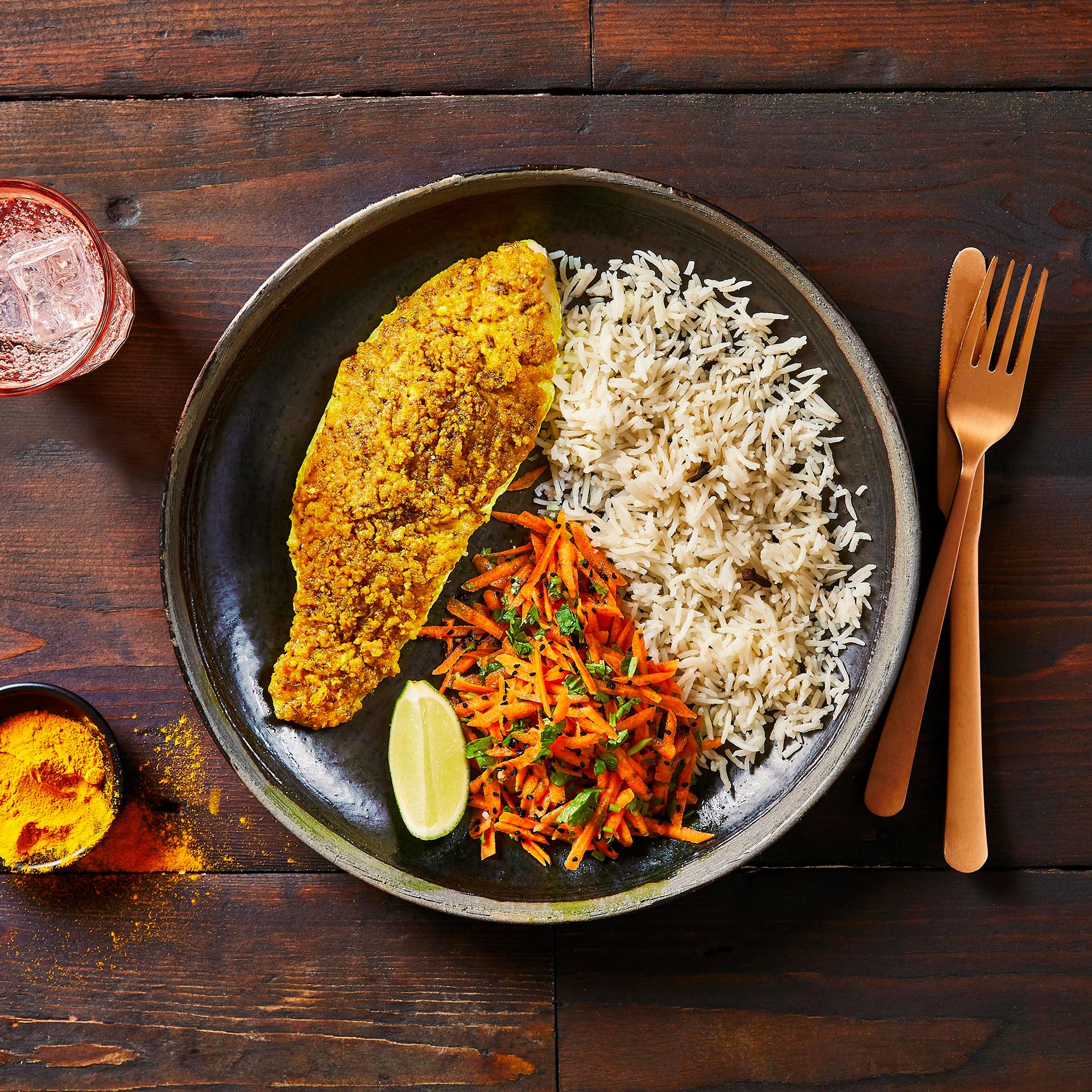 Bengali Mustard Fish With Fragrant Rice