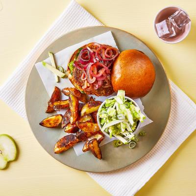 Food boxes get fresh food ingredients delivered gousto paprika pork burger apple salad wedges forumfinder Images