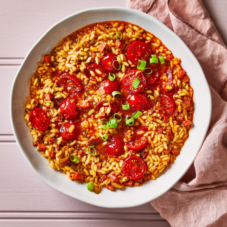Simple Chorizo Cherry Tomato Risotto Recipe Gousto