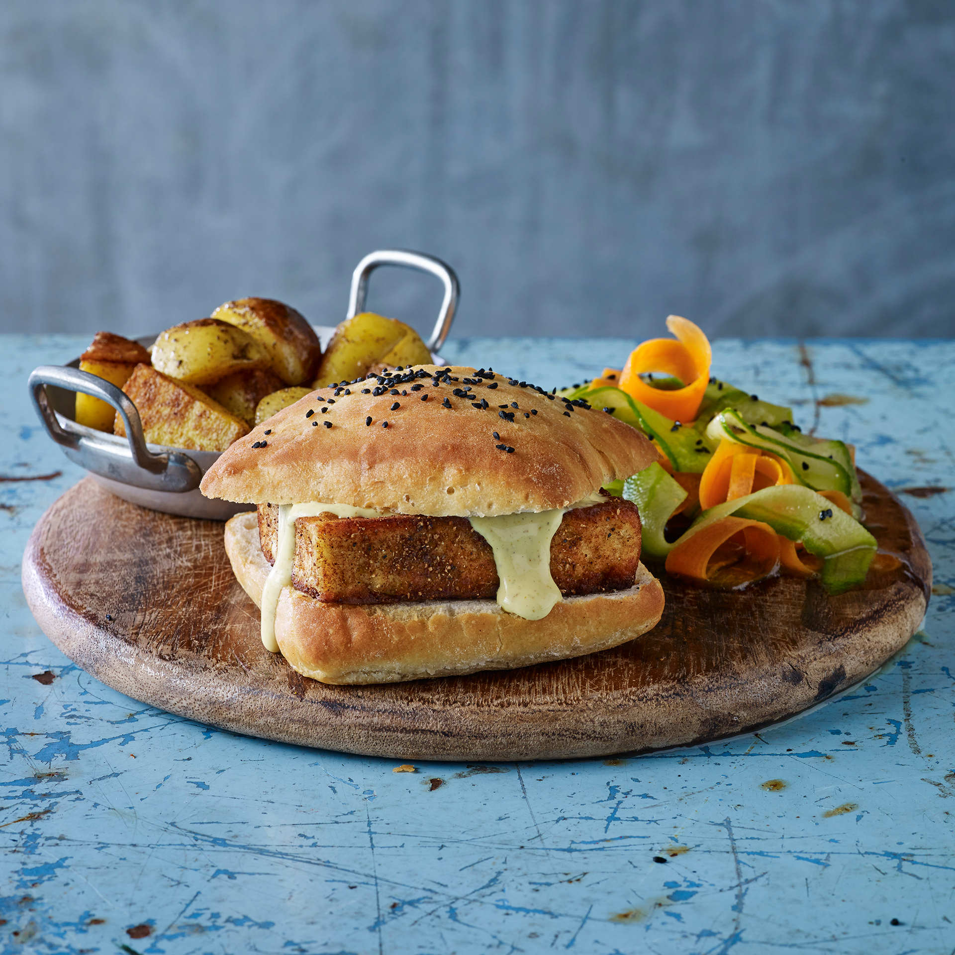 Paneer Burger With Indian Slaw Recipe | Gousto