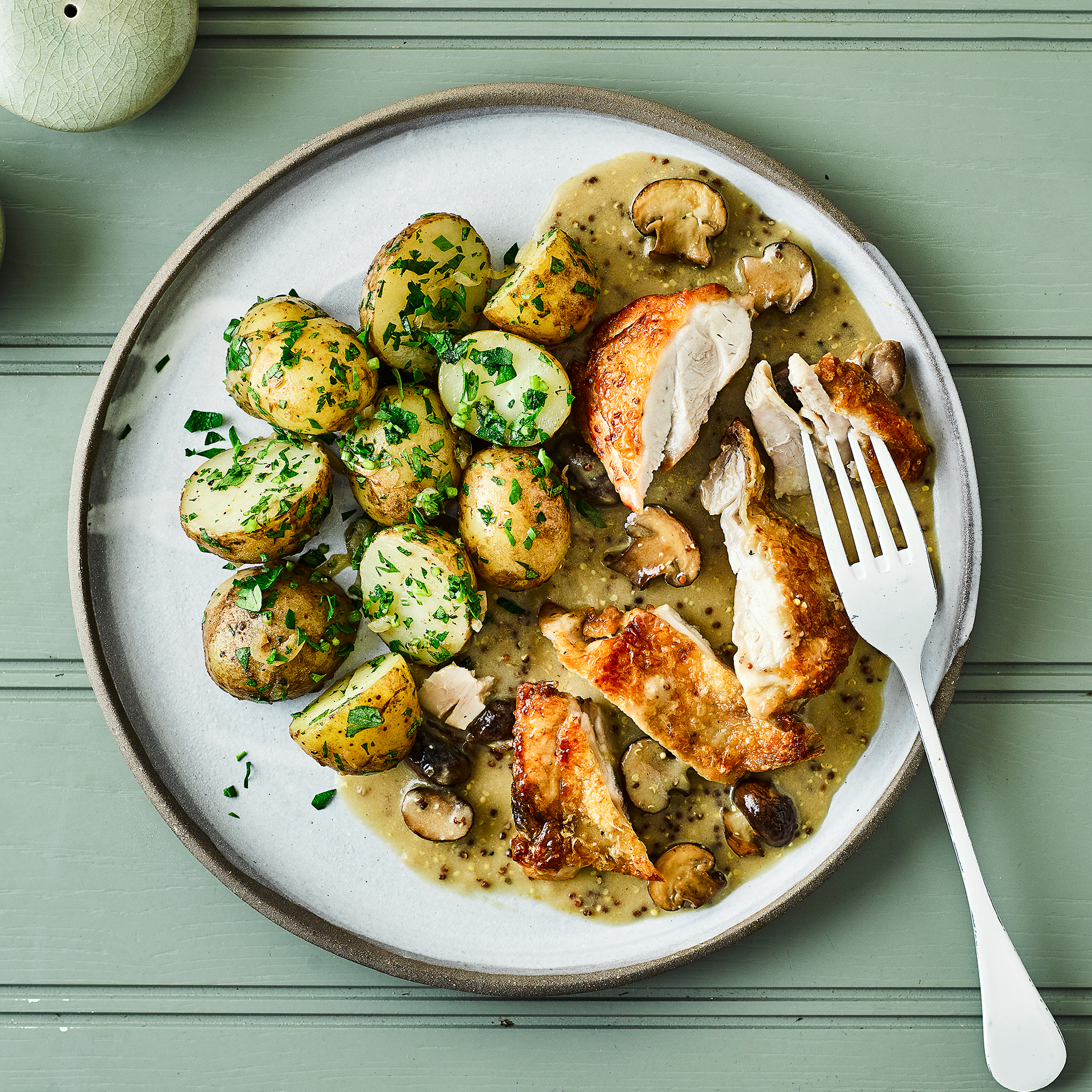 Chicken Dijonnaise Amp Parsley Potatoes Recipe Gousto